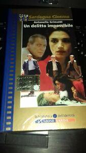 GRIMALDI-UN DELITTO IMPOSSIBILE-VHS Videocassetta nuova sigillata-L'Unione Sarda