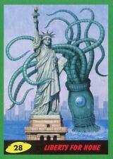 Mars Attacks The Revenge Green Base Card #28 Liberty for None
