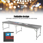 Portable Beer Game Camping Desk Party Accessory Folding Table Tennis Table