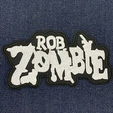 White Zombie Rob Heavy Metal Band Logo Iron On Embroidered Patch Free Shiping