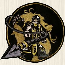 Mortal Kombat Scorpion Get Over Here Embroidered Big Patch MK9 Sub-zero PS