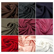 100% Cotton Jersey Plain Luxury Quality Fabric Evening Dress Clothing Upholstery