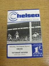 31/08/1968 Chelsea v Tottenham Hotspur  (Light Crease, Small Pin Hole). Thanks f