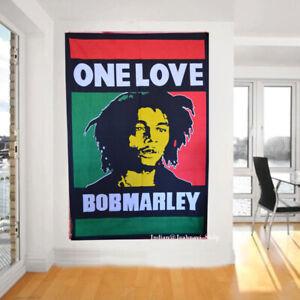 "Ethnic Indian Cotton Bob Marley Mandala Poster Throw Hippie Wall Hanging 30x40"""