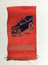 Vintage Tobacco Silk Woven Automobile Red~New Old Stock