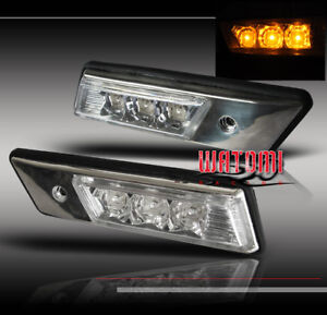88-96 BMW E36 E34 FRONT AMBER LED SIDE MARKER SIGNAL LIGHTS LAMP 91 92 93 94 95