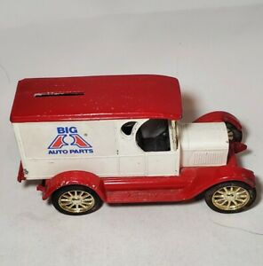 1912 FORD DELIVERY CAR COIN BANK - BIG A AUTO PARTS - ERTL 1:25 Rare Red Painted