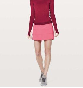 Lululemon Pace Rival Skirt (Regular ) Glossy Pink Size 6 NWT