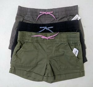 Old Navy Girls Cuffed Twill Pull-On Shorts: Various Sizes & Colors NWT $17