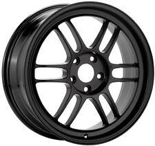 "ENKEI RPF1 Wheels 18x10.5"" 5x114.3 +15mm BLACK EVO 350Z Rims 379-8105-6515BK"