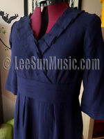 Gorgeous New BODEN Wool Crepe V Neck Dress UK 12 Regular DAMSON 12R