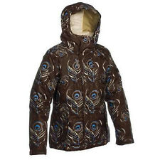 Bonfire Flare Jacket Womens Ski Snowboard Waterproof Insulated Brown Print XS