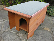ORIGINAL WOODEN OUTDOOR IDEAL CAT SMALL DOG RABBIT SHELTER HOUSE MEDIUM A/S F/R