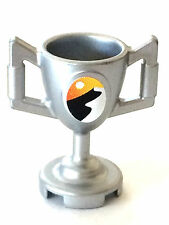 *NEW* Lego Minifig Utensil  TROPHY CUP with Sticker METALLIC SILVER