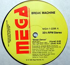 """BREAK MACHINE street dance 3 ELECTRO~FREESTYLE remixes MEGA 12"""" 1986 near-mint"""