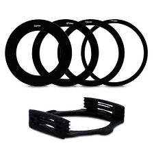 4pcs 58 67 72 77MM Adapter Ring + Lens Filter Holder Set For Cokin P Series New