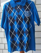 Kurzarm Poloshirt, Horze, blau karo, Gr.134/ 140