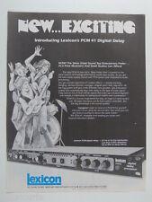 retro magazine advert 1980 LEXICON delay pcm 41