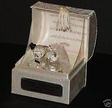 Wedding bears in poem box gift 40th ruby Wedding anniversary crystal glass  #4