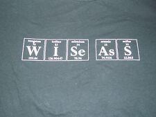 Periodic Table WISeAsS Funny T Shirt Size Medium Black