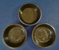 "3 pcs. Vintage 5.5"" Tin Pie/Cake/Tart Pans, Patina, VG Condition"
