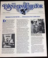 Disneyland Disneyana Collector Newsletter 1983 Walt Disney Mickey Mouse 50th BD
