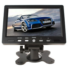 "HD 7"" Color TFT LCD Screen 800x480 HDMI VGA Car Rearview Monitor 2 Video Input"