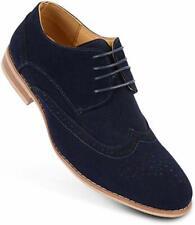 Para Hombre Inteligente Oficina Boda Formal Informal Con Cordones Zapatos Imitación Gamuza Cuero Calado 7-11