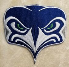 """Seattle Seahawks Big 4"""" Seahawk Iron On Embroidered Patch ~ FREE Ship"""