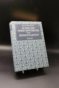 Ignaz Bernstein - Jüdische Sprichwörter und Redensarten