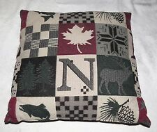 Canadian Themes Cushion Pillow Elk Salmon Maple Leaf Pine Cone - Canada