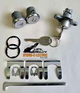 NEW 1969 Pontiac Firebird Door & Trunk Lock set with GM Keys - Stainless Finish