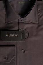 Valentino Roma Hemd, Kentkragen, Gr. 46, mocca, Herrenhemd, Baumwolle braun, NEU