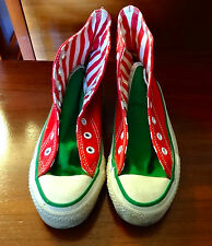 Vtg 90's Converse Sz 1.5 Made in USA Christmas Chuck Taylor - RARE YOUTH SIZE!