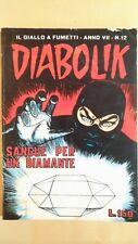 DIABOLIK ed. Astorina 1968 Anno VII n. 12 stato Buono