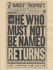 Harry Potter The Daily Prophet He Who Must Not Be Named Flyer Prop/Replica