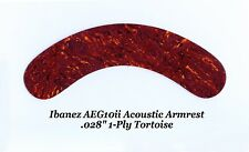 "Ibanez AEG10ii Armrest 1-Ply .028"" Tortoise Acoustic Guitar Project NEW"