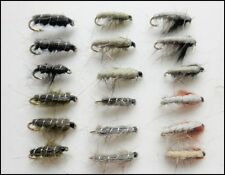 Czech Nymph Flies with Semtex, 18 Pack Mixed Colours, size 10/12 For Fly Fishing