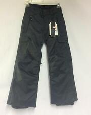 Quiksilver Junior Boys Porter Snowboard Winter Pants Caviar Black Youth 8 NEW