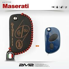 Leather Key fob Holder Case Chain Cover FIT For Maserati Quattroporte 2006~2011