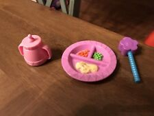 """Dora the Explorer TWIN BABY Accessory FOOD PLATE 5"""" With Bottle & Rattle (2)$"""