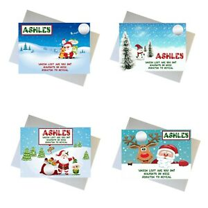 Personalised Christmas Scratchcard Surprise Naughty Or Nice Gift Reveal Voucher