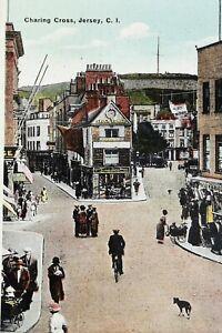 Charing Cross, Jersey. Vintage Postcard