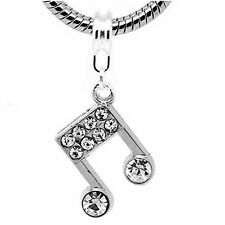 Musical Note Dangle Bead Spacer for Snake Chain Charm Bracelet