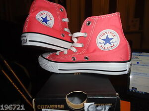CONVERSE GIRLS RED HI TOP TRAINERS BNIB UK 12 EU 30