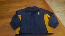 Nike boys blue zip up windbreaker jacket size M 10/12 NWOT