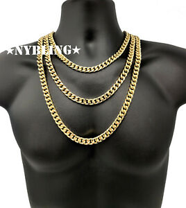 Classic Miami Cuban Chain Necklace or Bracelet Mens Hip Hop Jewelry 10MM