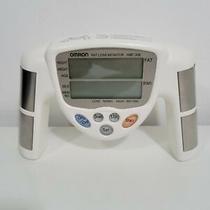 Omron Model HBF-306 Fat Loss Monitor Handheld Body Fat / BMI Analyzer Tested