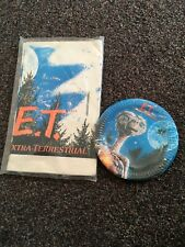 1982 VTG ET THE EXTRA TERRESTRIAL Paper Plates & Tablecloth By Reed Never Opened