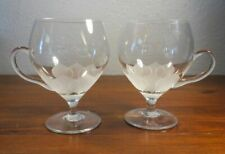 TWO Rosenthal Lotus Glass Footed Irish Coffee Mugs or Punch Cups. 3B